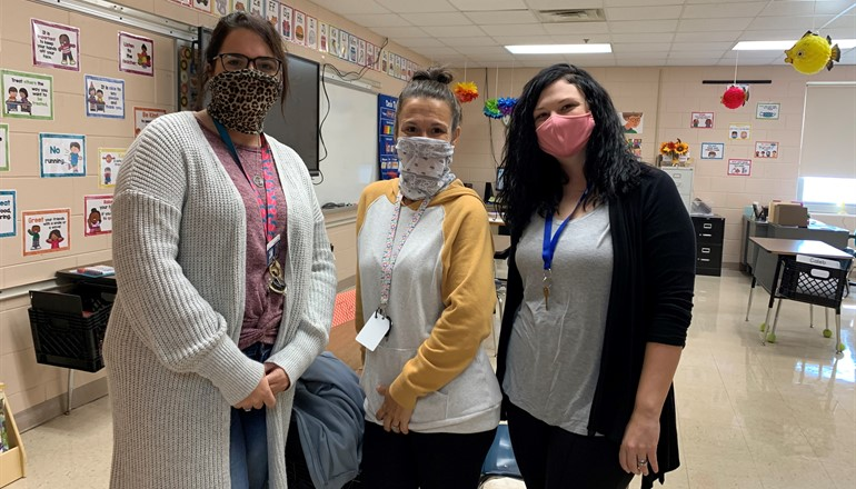 BCMS staff Ms. Megan, Ms. Tara, and Ms. Whitney!